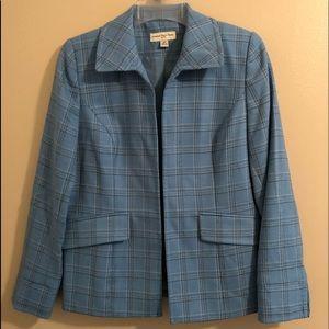 Amanda Smith Petites Blue Size 4P Blazer/Jacket